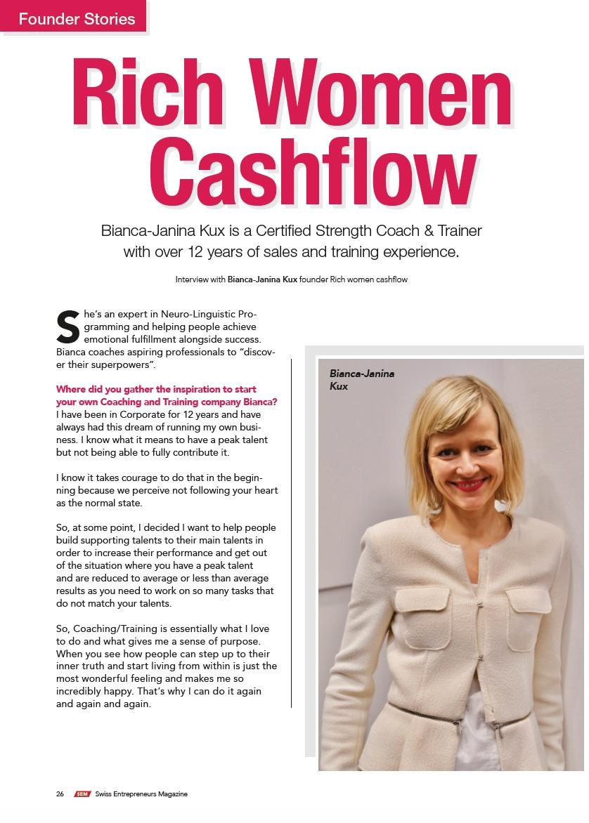 Bianca Kux - Rich Woman Cash Flow Day