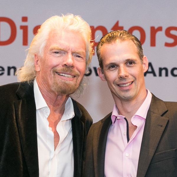 Urs W. Schmid mit Richard Branson